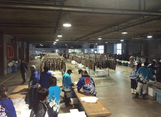 寝屋漁港鮭祭り