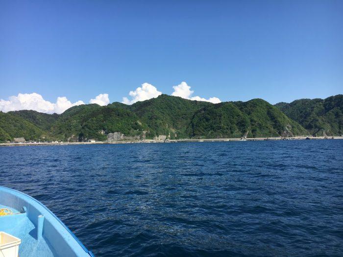 日本海新潟寝屋漁港の風景