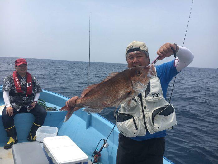 大鯛釣果実績を上げる