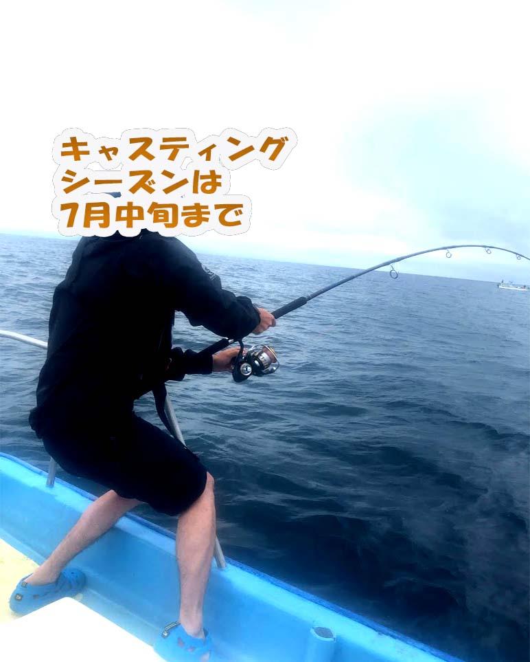 新潟キャスティング釣り船昭和丸の様子