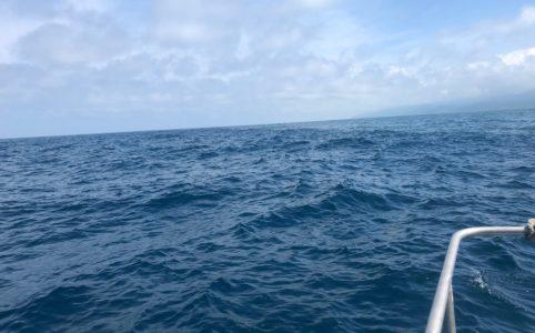 お盆休み中時化の日本海
