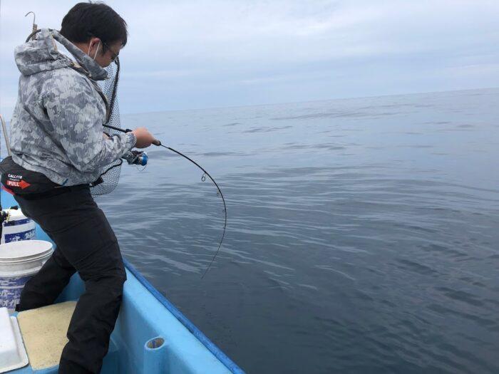 ジギングで根魚が釣れる