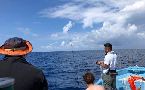 高温注意報の中での船釣り